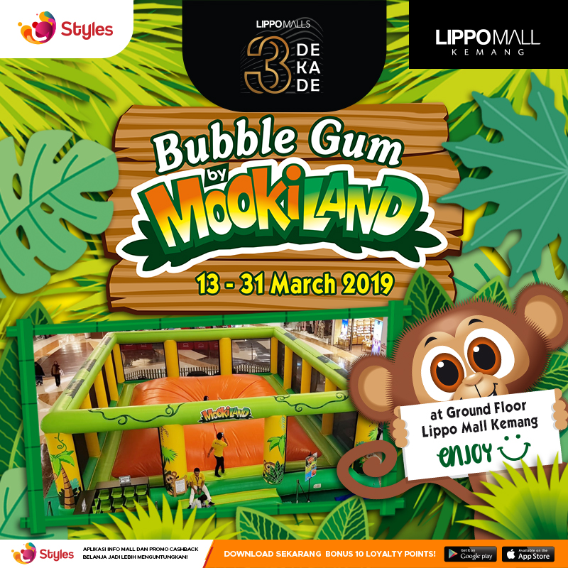 Mookiland introduces the Bubble Gum @ Lippo Mall Kemang
